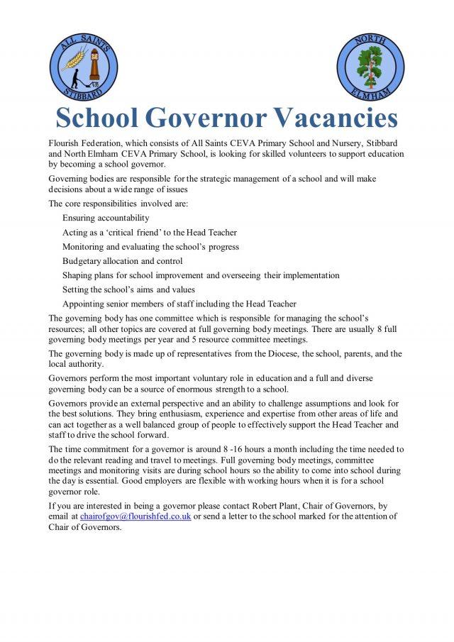 School Governor Vacancies